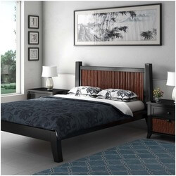 Key West Bamboo Solid Wood Platform Bed with Headboard