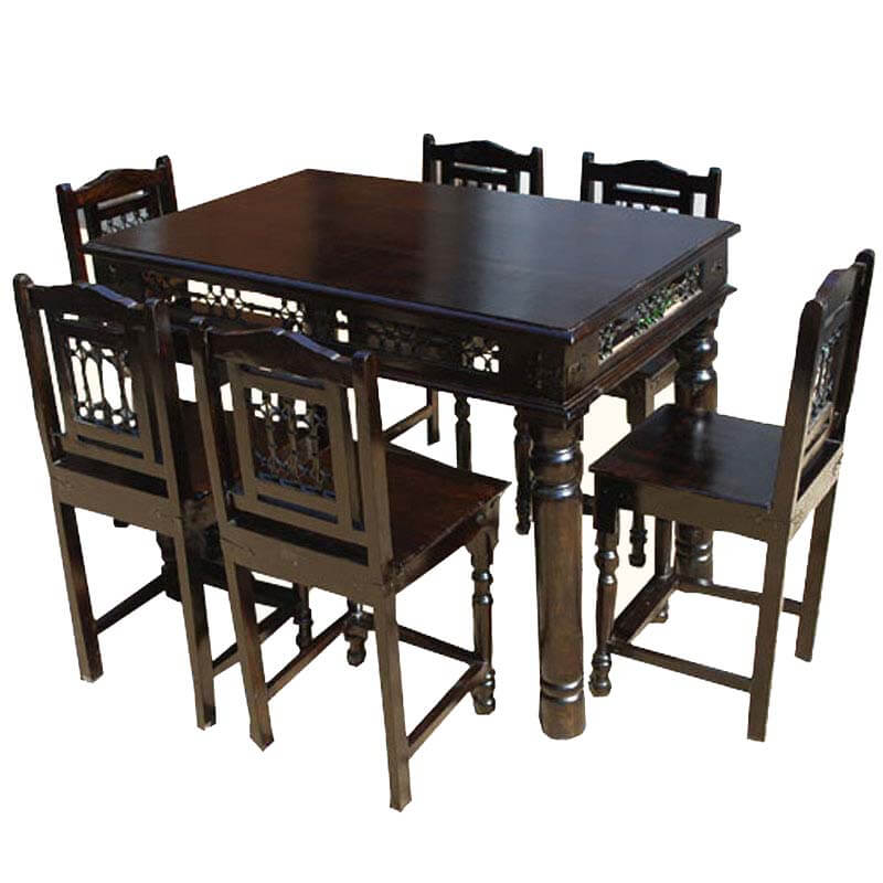 Philadelphia Transitional Counter Height 7 Piece Dining Table & Chairs