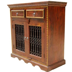 Philadelphia Handcrafted Solid Wood 2 Drawer TV Media Storage Cabinet