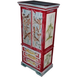 Moravia Solid Wood Hand Painted 3 Drawer Armoire Closet