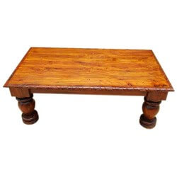 Altha Mango Wood Carved Edge Large Coffee Table