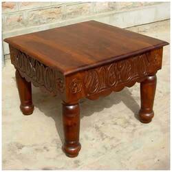 Eidal Elegant Solid Wood Hand Carved Square End Side Table
