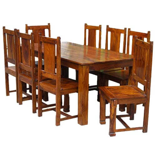 Dallas Classic Solid Wood Double Pedestal Dining Set For 8