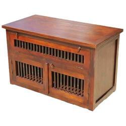Santa Cruz Mission TV Stand Console w Storage Cabinet