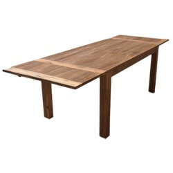 Cariboo Contemporary Teak Wood Dining Extension Table