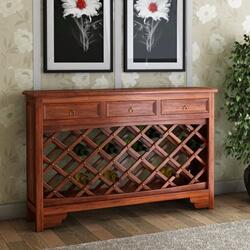 Sierra Nevada Modern 3 Drawer Wine Console Table