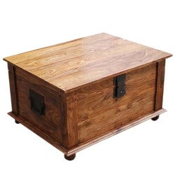 Sierra Nevada Solid Wood Coffee Table Storage Trunk