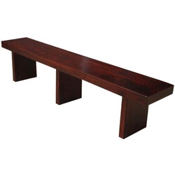 Beresford Seven Foot Contemporary Solid Wood Bench