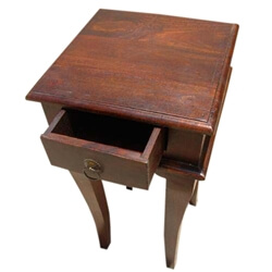 Solid Wood 1 Drawer End Table Night Side Stand Table
