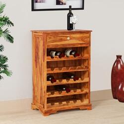 Mercer Rustic Solid Wood 25 Bottles Wine Bar Cabinet
