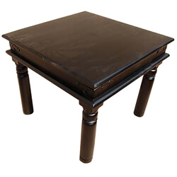Duken Solid Wood Square Side End Table