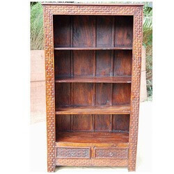 Amick 4 Open Shelf Rustic Solid Wood Bookcase With Drawers