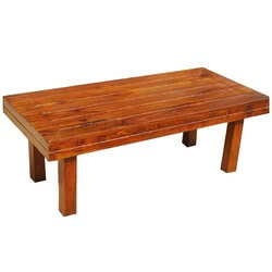 Mission Solid Wood  Rectangle Coffee Table