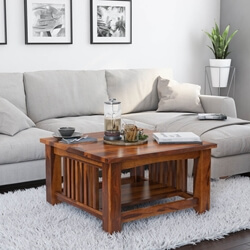 Jeddito Mission Rustic Solid Wood Square Coffee Table