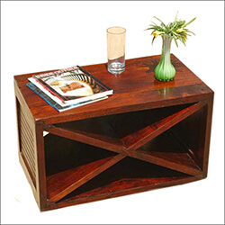 Modern Solid Rosewood Accent Coffee Table