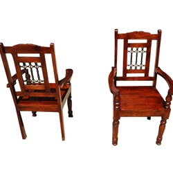 Philadelphia Freedom Classic Dining Room Chair w Arms (Set of 2)