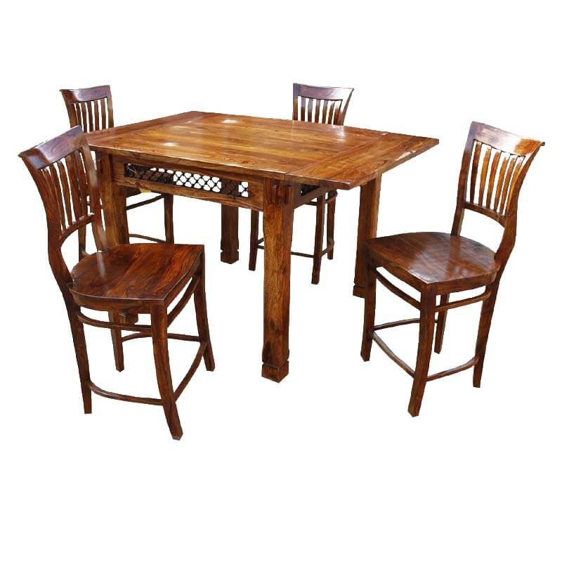 Santa Cruz Counter Height 5 Pc Dining Room Table Chair Set w Extension