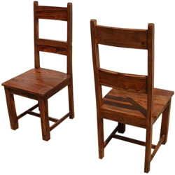 Santa Cruz Mission Ladder Back Chair Set of 2