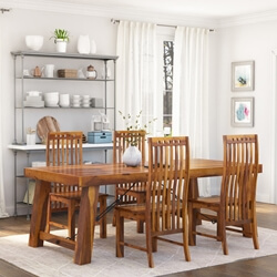 Lincoln 5pc Transitional Dining Room Table & Chair Set