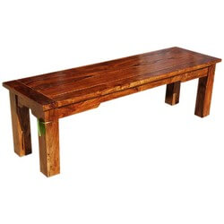 Marion Handcrafted Rustic Solid Wood Backless Dining Bench