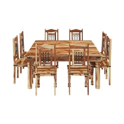 Peoria Solid Wood Square Dining Table & Chair Set