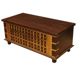 Palace Gates Golden Mango Wood Coffee Table Chest