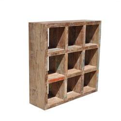Santa Fe 9 Square Cubical Book Display Case