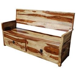 Dallas Ranch Solid Wood Sofa Bench w Storage Drawers