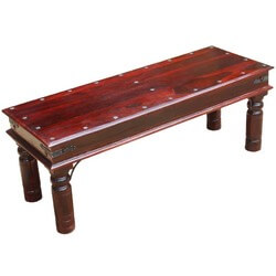 Koch Rustic Hardwood Hall Window Backless Bench