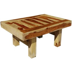 Bold & Blocky Solid Wood Safari Coffee Table