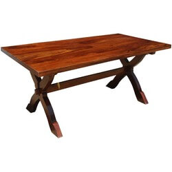 """McKay Solid Wood Double Pedestal Style Rectangle 71"""" Dining Table"""