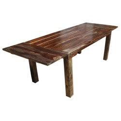 Rustic Large Cariboo Extendable Dining Table
