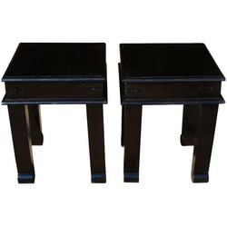 Morristown Square Mission Espresso Solid Wood End Table Set 2