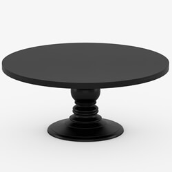 "Nottingham Solid Wood 72"" Black Round Dining Table For 8 People"