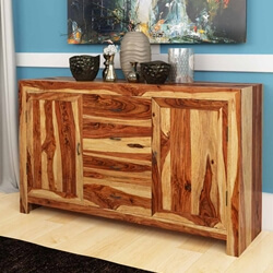 Bluffton Classic Solid Rosewood 4 Drawer Rustic Sideboard Cabinet