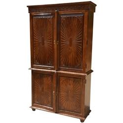 Sierra Solid Wood Handcrafted Four Door Armoire