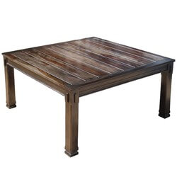 Santa Fe Transitional Rustic Solid Wood Square Dining Table