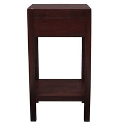 Zairo Contemporary Solid Wood 3 Tier 1 Drawer End Table