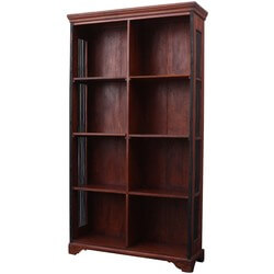 Shaker Solid Wood Adjustable Shelves Open Bookcase