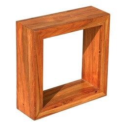 """18"""" Solid Wood Open Back Display Small Side Table"""