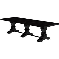 Harold Extra large Triple Pedestal Dining Table For 12 Person