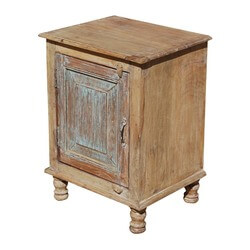 Horten Rustic Farmhouse Reclaimed Wood Nightstand Cabinet