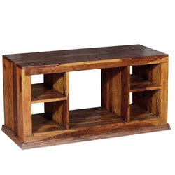 Dallas Contemporary Solid Hardwood Open Back TV Stand Media Console