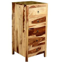 Dallas Ranch Solid Wood Contemporary 5 Drawer Tower Dresser