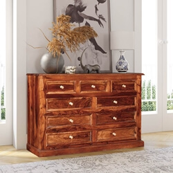 Shaker Classic Solid Wood 9 Drawer Dresser