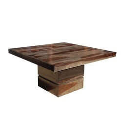 "Dallas Modern Solid Wood 48"" Square Pedestal Dining Table"