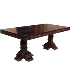 Langley Classic Solid Wood Sutton Double Pedestal Dining Table