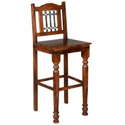 Philadelphia Solid Wood & Iron Tall Bar Chair