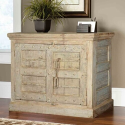 Maria Winter Reclaimed Wood 2 Door Buffet Storage Cabinet