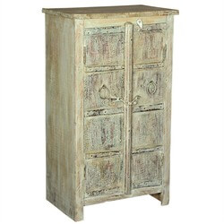 Dobson Rustic Reclaimed Wood Handcrafted 2 Door Accent Storage Cabinet